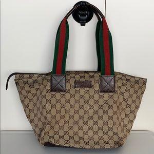 Gucci Shelly Canvas Tote Bag